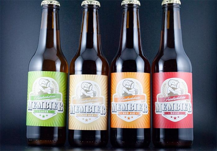 4 Biersorten Membier